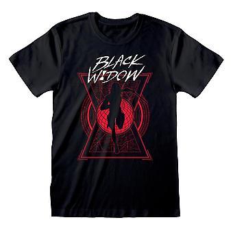 Men-apos;s Marvel Black Widow Movie Logo Black T-Shirt