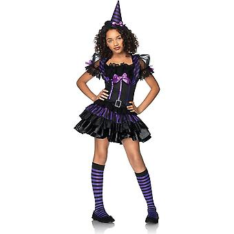 Lila häxa tonåring kostym
