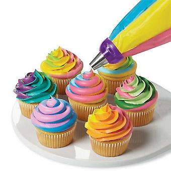 3 Holes Cake Decoration Tool - 3 Colors Mix Converter For Cupcake Cream Flower Icing Piping Nozzle Converter Connector Baking Tool