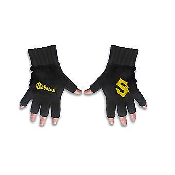 Sabaton Gloves Band Logo new Official Black Fingerless