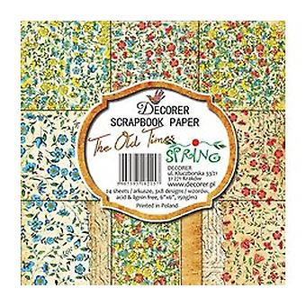 Decorer The Old Times Spring 6x6 Inch Paper Pack