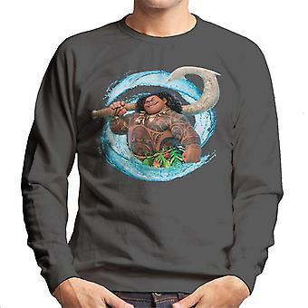 Disney Moana Maui Spiral Wave Homme-apos;s Sweatshirt
