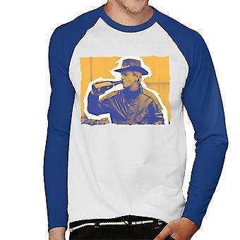 Paul Hogan Champagne sepiatone Menns Baseball lange ermer t-skjorte
