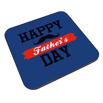 Happy Fathers Day Moustache Coaster