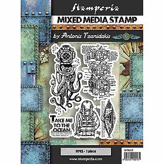 Stamperia Mixed Media Stamp - Octopus
