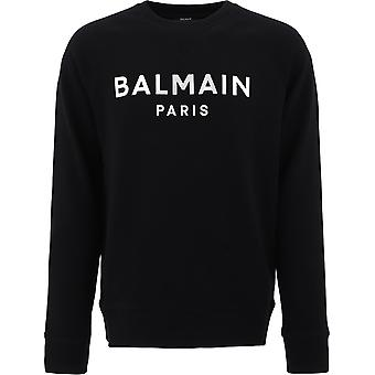 Balmain Uh13279i375eac Men's Black Cotton Sweatshirt