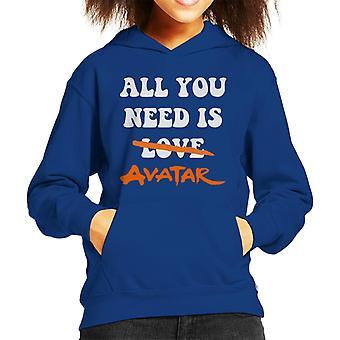 All You Need Is Avatar The Last Airbender Kid's Hooded Sweatshirt