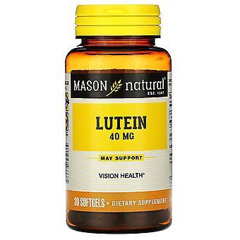 Mason Natural, Lutein, 40 mg, 30 Softgels