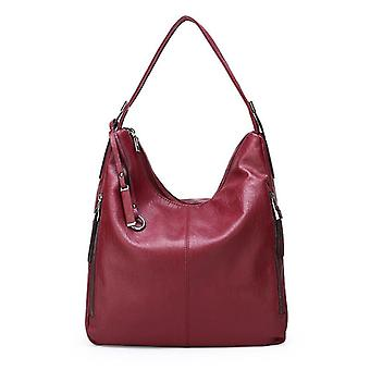 Soft leather shoulder bag for young ladies