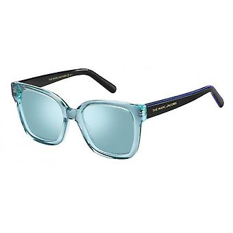Sunglasses Women rectangular black/blue/light blue