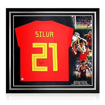 David Silva Värvade Spanien 2018-19 Football Shirt. Premium Ram
