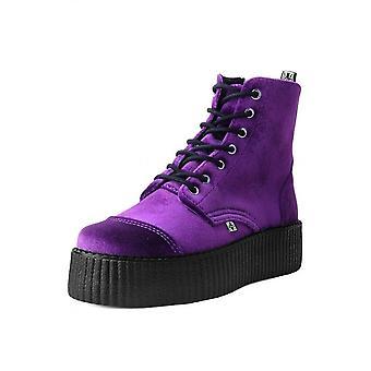 TUK Shoes 7-Eye Purple Velvet Viva Creeper Boot