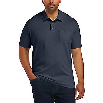 Essentials Men's Big & Tall Jersey Polo Shirt Shirt, -Navy, 5XL