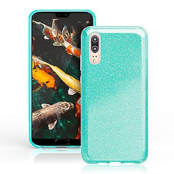 Scale for Huawei P20 Shiny Silicone Soft Lxy Rhinestone Glitter Bling Fancy Green