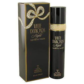 White Diamonds Night Eau De Toilette Spray By Elizabeth Taylor 3.4 oz Eau De Toilette Spray