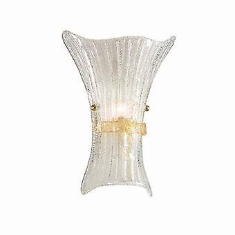 Ideel Lux Fiocco - 1 lys indendørs glas stor væglys rav med dekoration, E27