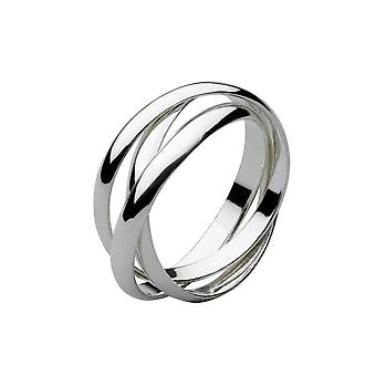 Dew Sterling Silver Russian Wedding Band Plain 3mm Ring 2006HPT024