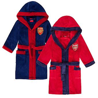 Arsenal FC officiella fotboll gåva boys hooded fleece morgonrock