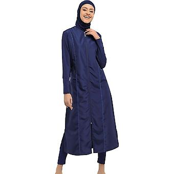 Long Micro Sleeves Full Burkini Muslim Swimwear Hijab Islamic Swimsuit Fashion