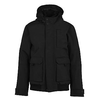 Firetrap Mens Manor Jacket Bomber Heavyweight Full Zip Long Sleeve Top