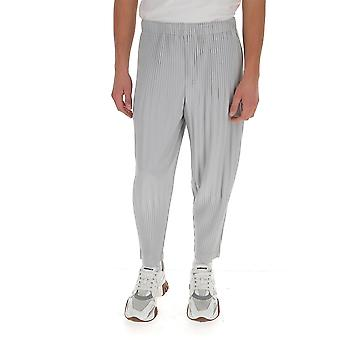 Homme Plissé By Issey Miyake Hp08jf15111 Men's Grey Polyester Pants