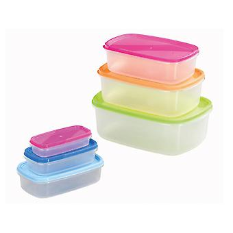Chef Aid Storage Containers Rectangular 6 Piece 10E31161