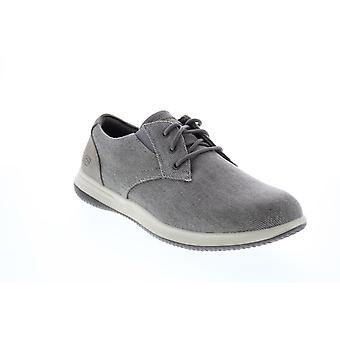 Chaussures Skechers Darlow Remego Mens Gray Oxfords & Lace Ups Plain Toe