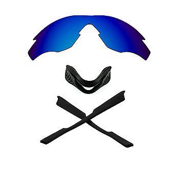 Polariserade ersättningslinser & Kit för Oakley M2 Ram Blå spegel & Svart Anti-Scratch Anti-Glare UV400 av SeekOptics