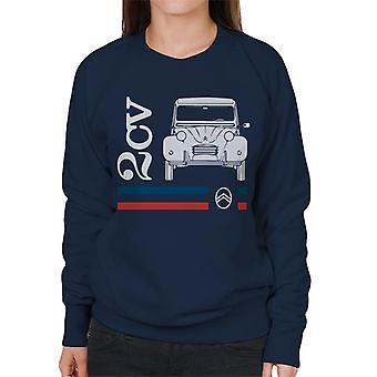 Citro?n White 2CV Racing Stripes Women's Sweatshirt
