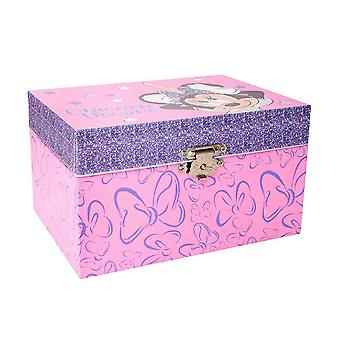 Dzieci&s Disney Minnie Mouse Pink Jewellery Box