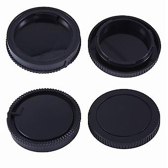 Movo photo lens mount cap & body cap for sony alpha dslr camera (2 pack)
