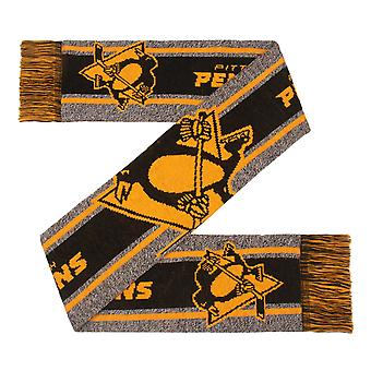 FOCO NHL Winter Scarf - GREY BIG LOGO Pittsburgh Penguins