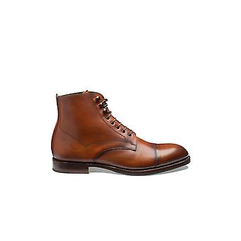 Loake Hirst Brush Painted Boot Chestnut