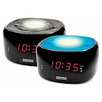 Relógio Rádio Daewoo LED FM Preto
