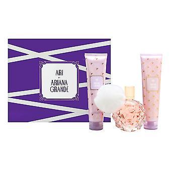 Ari par ariana grande pour les femmes 3 pièces ensemble comprend: 3,3 oz eau de parfum spray - 3,3 oz lotion pour le corps - 3,3 oz lavage du corps