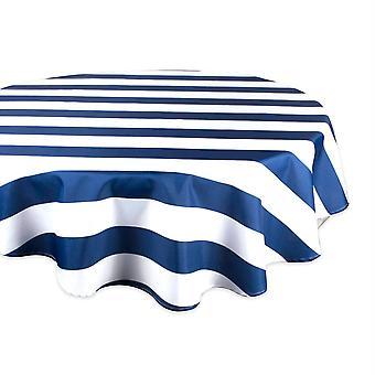 Dii Nautical Blue Cabana Stripe Tovaglia outdoor 60 Round