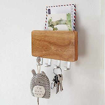 Wood Mounted Key Holder