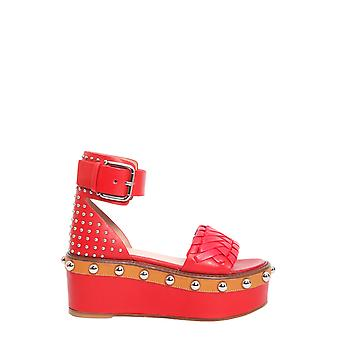 Red Valentino Pq0s0a90ebafu7 Women's Red Leather Sandals
