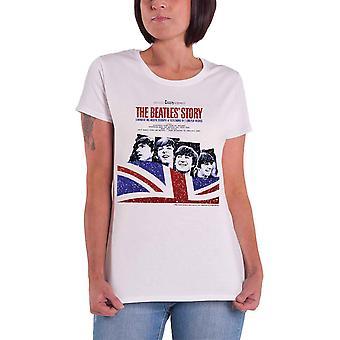 The Beatles T Shirt The Beatles Story virallinen naisten uusi valkoinen Skinny Fit