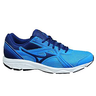 Mizuno Spark 5 Blue Navy Black Low Lace Up Mens Running Trainers K1GA200327