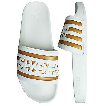 Slydes Heritage Slide Womens Slip On Flip Flop Sliders Sandals SS20 W White