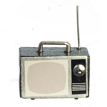בית הבובות 1960's נייד טלוויזיה הגדר 1:12 סולם סלון אביזר