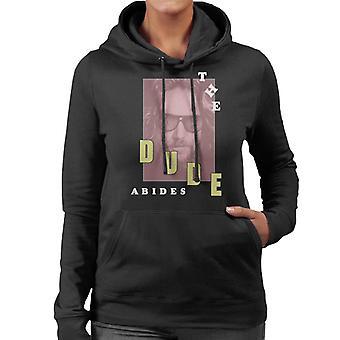The Big Lebowski The Dude Abides Retro Women's Hooded Sweatshirt