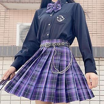 Gothic Pleated Plaid Skirt