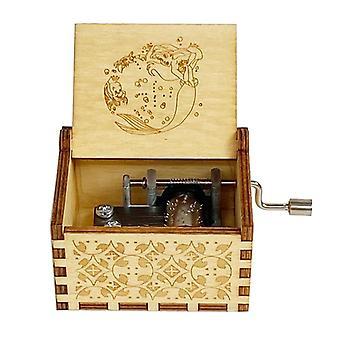 Trä Handsnidade Vintage Music Box