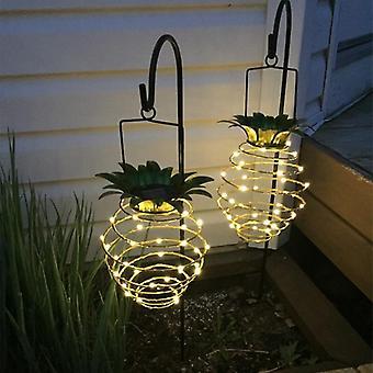 Vedenpitävä ananas muoto Aurinko puutarha valot - Seinävalaisin ulkona ripustus