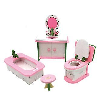 Bebester miniature dolls house furniture, wooden miniature dollhouse wooden furniture dolls house pl
