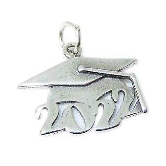 Graduation Mortarboard 2022 Sterling Silver Charm .925 Graduate Charms - 8486