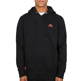 Alpha Industries Men's Hooded Sweater Basic Hoody Small Logo Neon Print
