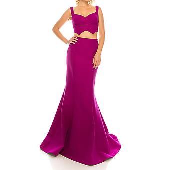 Crepe Twill Evening Gown